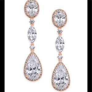 Eliot Danori Oval Crystal Drop Linear Earrings